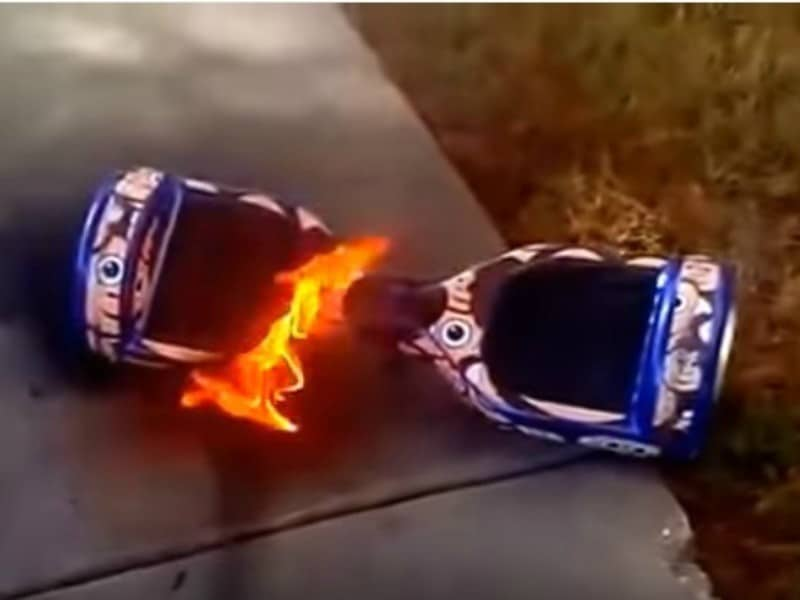 hoverboard risk of getting fire