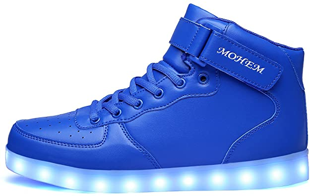 MOHEM Shiny Night High Top LED Light Shoes