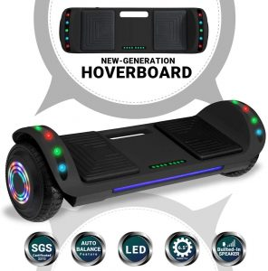 Newest Generation Hoverboard designed for All-Terrain fully equipped with multiple flashlights and controllable speakers via Bluetooth through your SmartPhones by Beston Sports