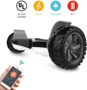 HYPER GOGO Hoverboard designed for All-Terrain fully equipped with multiple flashlights and controllable speakers via Bluetooth through your SmartPhones by HYPER GOGO